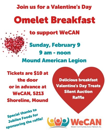 Omelet Breakfast to support WeCAN