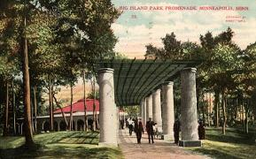 An illustration of former facilities at Big Island Park