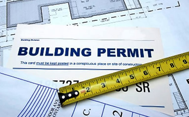 Building permit - tape measure